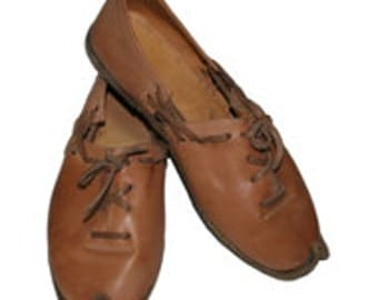 Genuine Leather  HandMade  Organic Shoes Light Brown . All shoes numbers is available for women and men