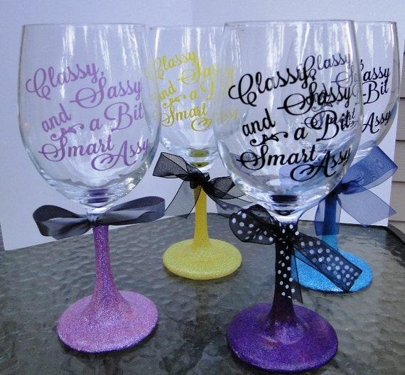 large wine glass custom decorate with glitter stem and. Black Bedroom Furniture Sets. Home Design Ideas