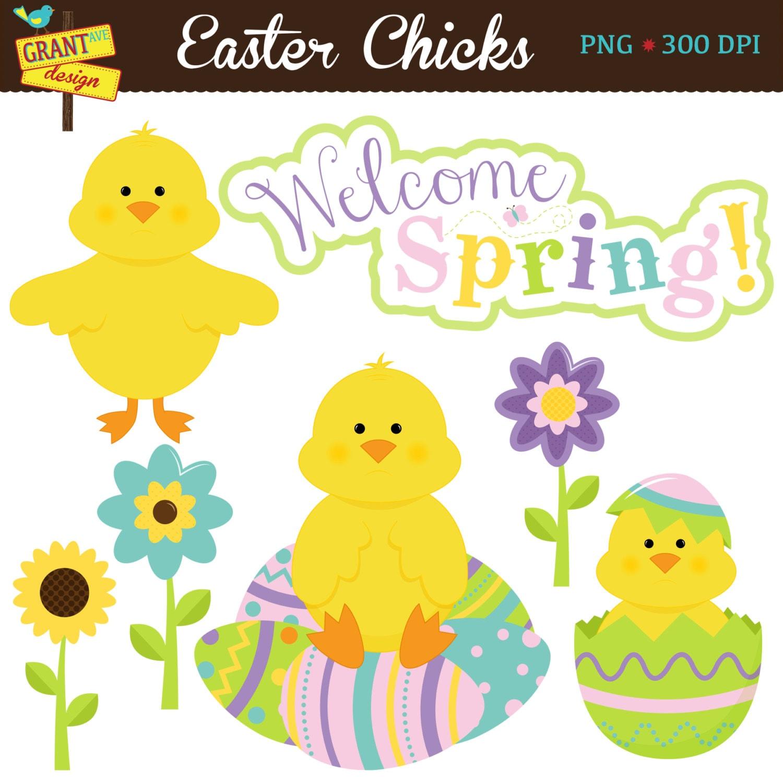 Easter Chicks Clipart Easter Clip Art Spring Clipart for