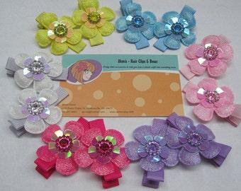 Baby hair clips set Girl hair accessories Flower hair clips Toddler hair clips Baby hair accessories gift set Newborn hair clips