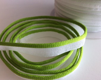 5M Piping Trim Apple Green Color Cotton and satin