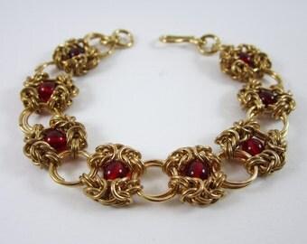 Romanov Bracelet brass and glass