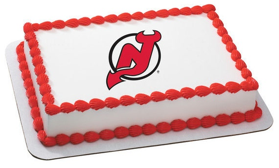 Edible Cake Images Nj : NHL New Jersey Devils Edible Cake and Cupcake by ...
