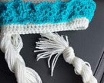Elsa inspired crochet hat from Frozen