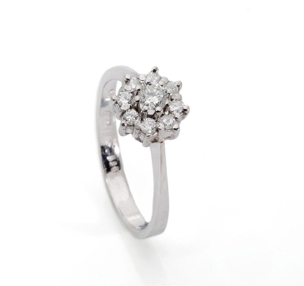 Vintage engagement ring setting engagement ring by Sevencaratshop