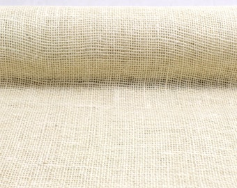 "Ivory 19.7"" by 10 yard burlap roll for long banquet tables. perfect for wedding events, burlap aisle runner.Other colors available(BRH19-02)"