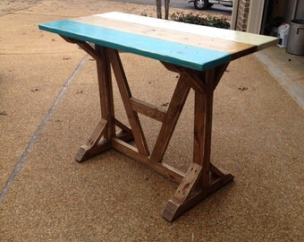 Distressed Architectural Style Multi Color Bar Table