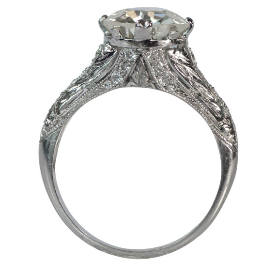 Hand Engravings make this vintage estate diamond ring exquisite at estateDiamondjewelry on Etsy