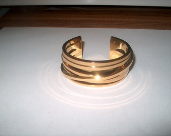 Ann Taylor Signed Cuff Bracelet, Vintage Costume Jewelry,  WAS 25.00 - 50% = 12.50