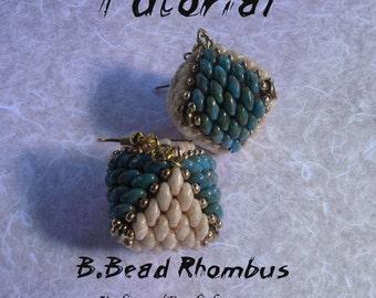 B. Bead Rhombus (graphic and photographic tutorial in Italian and English)