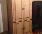 beautiful rustic antiqued knotty pine tv armoire entertainment center
