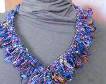 multi colored chrochet necklace 1