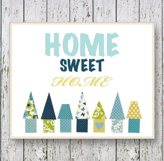 Home Sweet Home Wall Art Decor Room Art Bedroom By Lilchipie