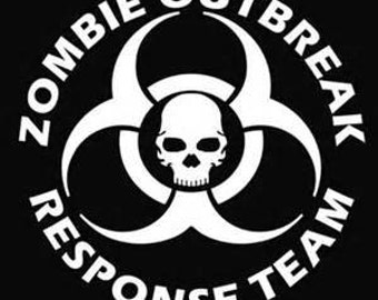 dead pool car stickers, Zombie Outbreak  Decal Sticker