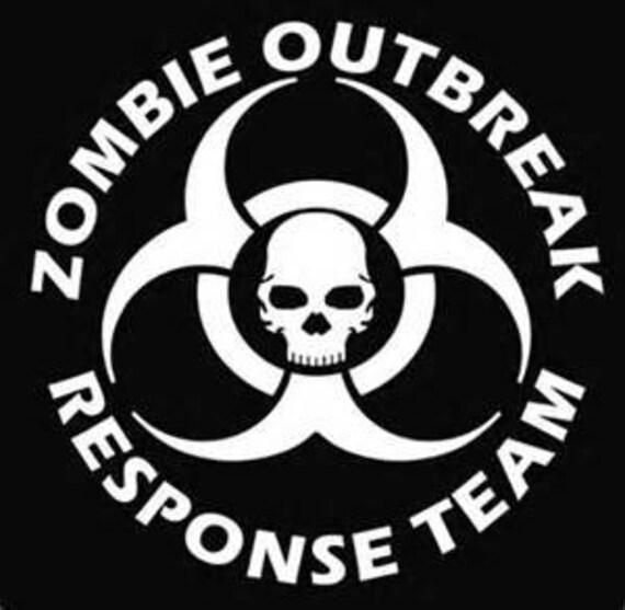 Zombie Outbreak, deaddpool Decal, walking dead decal, zombie decal, zombie decals, car decals, jeep decals, truck decals, man cave decals,