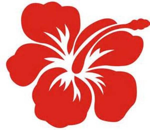 yeti hawaiian, Aloha Flower Hibiscus Decal, vinyl decal for tumbler, Flower Decal, Hawaii decal, 30 oz decal, 20 oz tumbler decal, decal car
