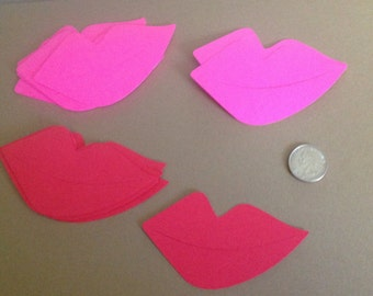 50 die cut Lips