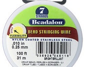 "Beadalon 7 Bright .010"" 100ft Spool  (CD40710T-100)"