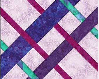 Diamond Celtic Knot Chain Paper Template Quilting Block Pattern PDF