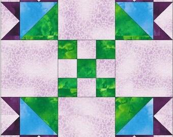 Picnic Bouquet Paper Template Quilting Block Pattern PDF