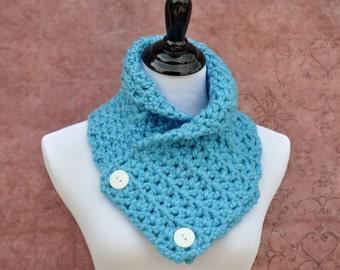 Crochet Scarf - Blue - Neckwarmer