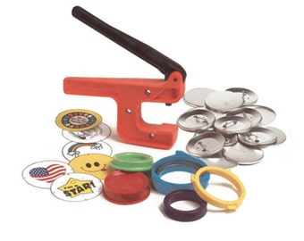 "Button-Maker: 2 1/4"" Starter Kit - World's Lowest-Priced Button Maker/Button Machine!"