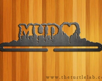Mud Love Tough Mudder Medal Hanger Runner Run Metal Art Rustic Obstacle Course