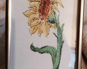 Blooming Sunflower Drawing