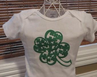 St. Patrick's Day shamrock shirt for girls
