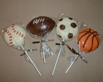 Sport Chocolate Lollipops