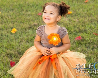 Brown, Orange and Yellow Tutu, Fall Tutu, Autumn Tutu, Baby Tutu, Infant Tutu, Toddler Tutu, Girls Tutu