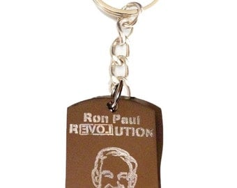 Ron Paul GOP Election Vote Revolution Political Politics Independent President Presidential Candidate Logo - Metal Ring Key Chain RON PAUL
