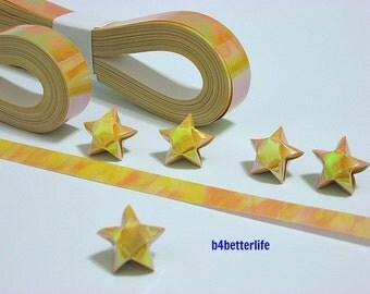 200 strips of Goldenrod Color DIY Origami Lucky Stars Medium Size Paper Folding Kit. 24.5cm x 1.2cm. (AV Paper Series). #SPK-105.