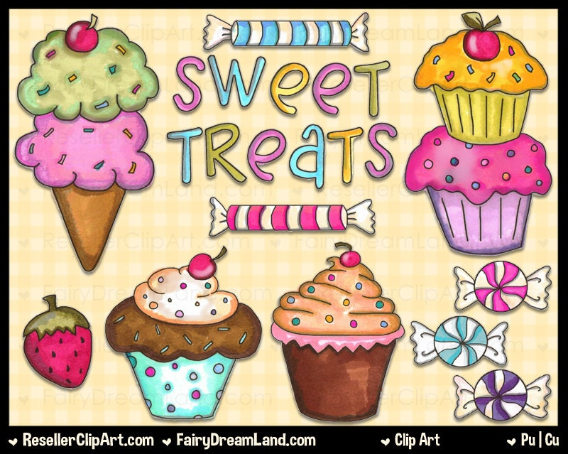 Sweet Treats Clip Art Commercial Use Graphic by ResellerClipArt