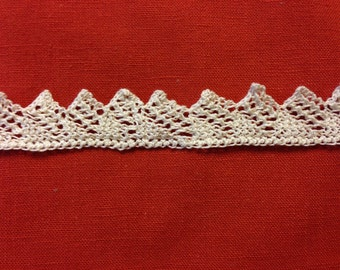 Vintage White Crocheted Lace or Trim
