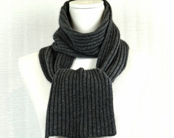 Scarf ,   Charcoal Grey , Cashmere.