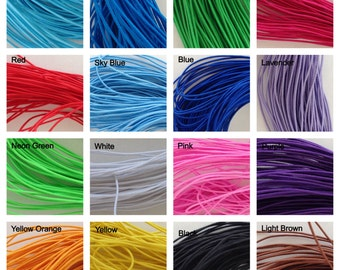 1mm Multiple Color Options Elastic Stretch Shock Cord Size 1mm Length 25 yards per bundle