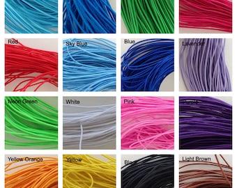 Multiple Color Options Elastic Stretch Shock Cord Size 1mm Length 25 yards per bundle