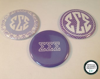 Sigma Sigma Sigma Bottle Opener Keyrings, Pocket Mirrors and Magnets, Tri Sigma