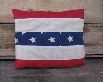 Small Prim Americana Pillow #2  -  READY TO SHIP
