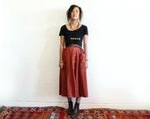 The Milk Thief - High waisted orange skirt