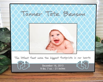 personalized baby boy picture frame baby gift personalized baby picture frame
