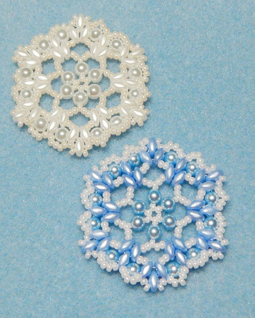 Snowflake 6 Beaded Ornament Pattern By Westtexasjewels On Etsy