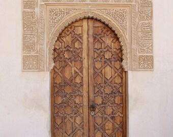 Spanish Door -Digital Photography, Door Photography, Spain Photography, Spanish Wall Art, Door Wall Decor, Moorish Door, Neutral Door, Spain