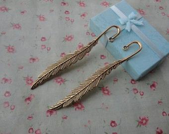 20pcs antique gold Metal leaf Bookmarks--115x15mm--MPC3330-20