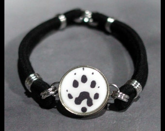 FERRET PAW Print Dime Stretch Bracelet - One size fits most - Made In USA