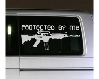 "23"" Gun AR15 Decal sticker wall art car graphics room decor machine assault rifle protect warning emo goth gothic metal AA76.22"