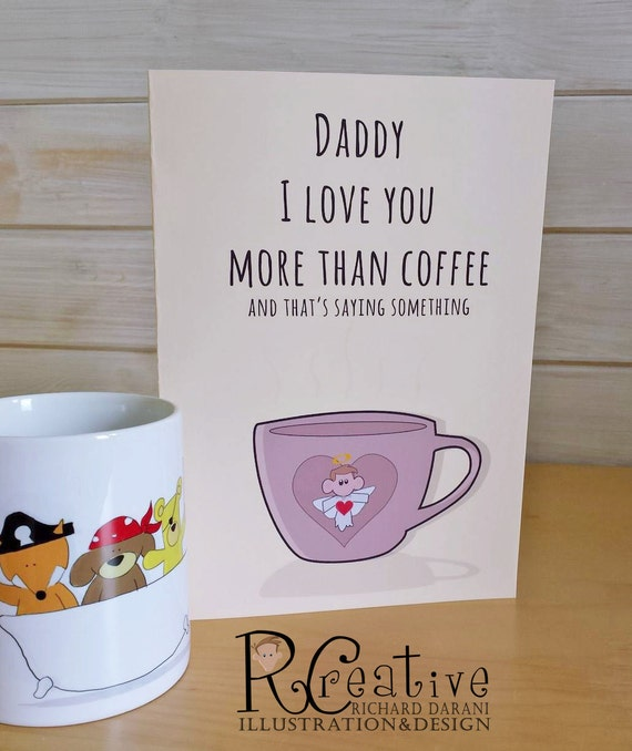 I Love You More Than Coffee: Items Similar To I Love You More Than Coffee Greeting Card