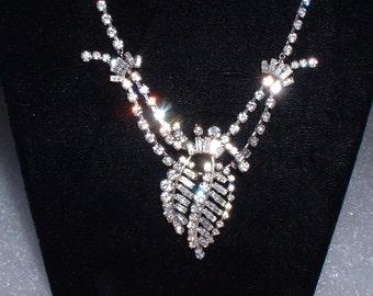 Vintage Signed AUSTRIAN Rhinestone Necklace