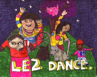 Postcard: Lez Dance!